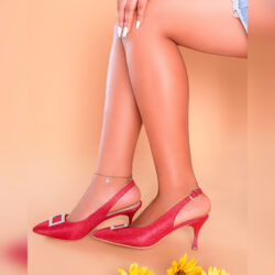 Red Party Slingbacks